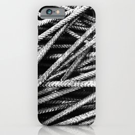 Rebar And Spring - Industrial Abstract iPhone Case
