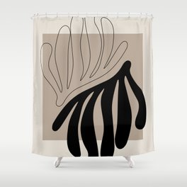 Matisse leaf poster, abstract modern art, framed matisse print, eclectic plant wall decor Shower Curtain