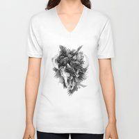 cycle V-neck T-shirts featuring Cycle by April Schumacher