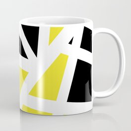 Abstract Interstate  Roadways Black & Yellow Color Coffee Mug