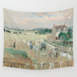 Hanging the Laundry out to Dry by Berthe Morisot Wall Tapestry