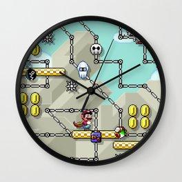 mario retro games Wall Clock