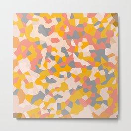 Exhale Arise Yellow Sun Pink Metal Print