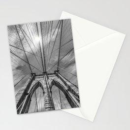 NEW YORK CITY Brooklyn Bridge in Detail   monochrome Stationery Cards