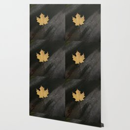 Autumn Maple Leaves Painting Style Wallpaper