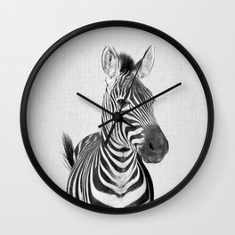 Zebra 2 - Black & White Wall Clock