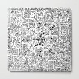 Mayan Spring B&W Metal Print