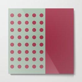 """Pink and Aquamarine Pastel Pattern, Marilyn"" Metal Print"