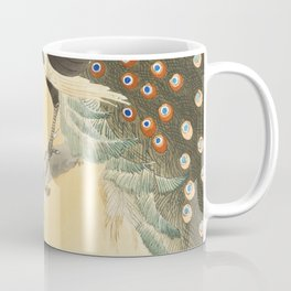 Peacock on a cherry blossom tree (1900-1930) by Ohara Koson (1877-1945) - Japanese art Coffee Mug