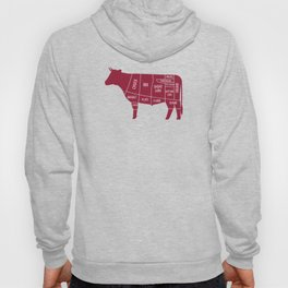 Beef Chart Cuts BBQ Barbecue Grill Hoody