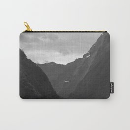 Flight entering Milford Sound New Zealand South Island Carry-All Pouch