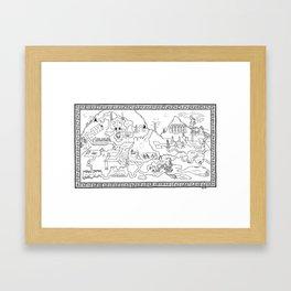 The Excavation Framed Art Print