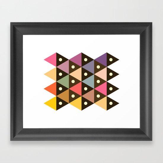 Cosmic Triangles Framed Art Print