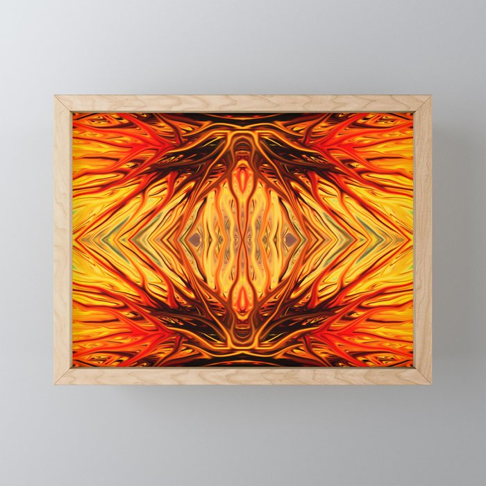 Orange Firethorn Quad II by Chris Sparks Framed Mini Art Print