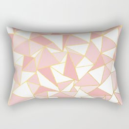 Ab Out Blush Gold 2 Rectangular Pillow