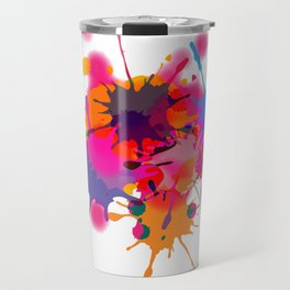 ink splash Travel Mug