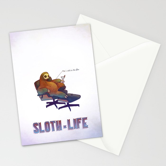 SLOTH LIFE fig. 1. Stationery Cards