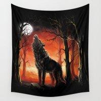 werewolf Wall Tapestries featuring Werewolf by Antracit