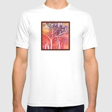 Towers between the trees MEDIUM White Mens Fitted Tee