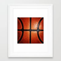 basketball Framed Art Prints featuring Basketball by alifart
