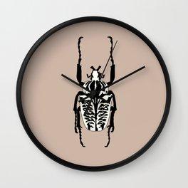 Goliathus Albosignatus Beetle Wall Clock