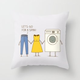 Let's go for a spin! Throw Pillow