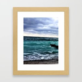 Winter Waters off Point Betsie Framed Art Print