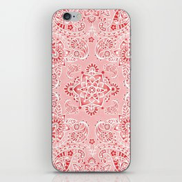 Pink Paisley Bandana iPhone Skin