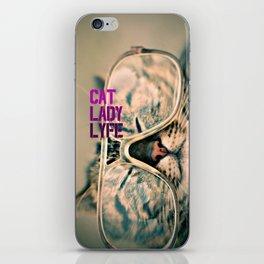 Cat Lady Lyfe iPhone Skin