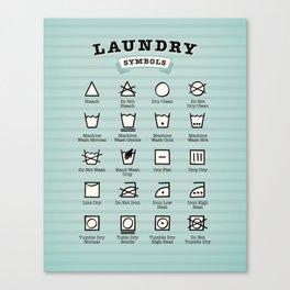 Laundry symbols Canvas Print