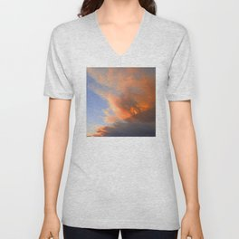Pyrocumulus Cloud (Fire Cloud) in Cherry Valley, California Unisex V-Neck
