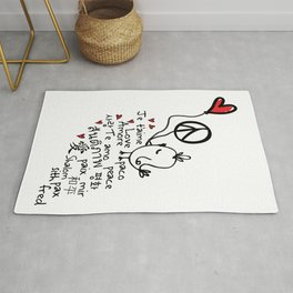 Love & Peace bird Rug