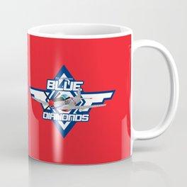 P15-D Mustang Blue Diamonds Coffee Mug