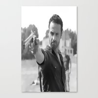 rick grimes Canvas Prints featuring Rick Grimes by OliGilbert
