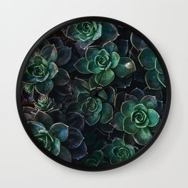 The Succulent Green Wall Clock