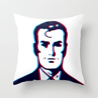 no face Throw Pillows featuring face by radiozimbra