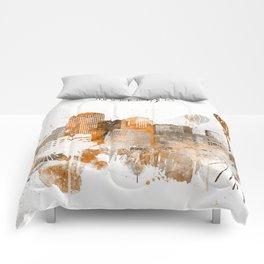 Albuquerque Warm Color Skyline Comforters