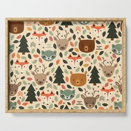Woodland Creatures Serving Tray