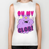 lumpy space princess Biker Tanks featuring Lumpy Space Princess by WaXaVeJu