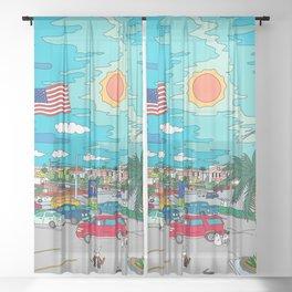 Orlando Sunrise Sheer Curtain