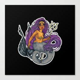 Mermaid Scylla Canvas Print