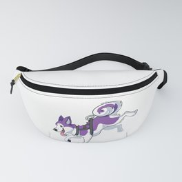 Purple Husky Running Fanny Pack