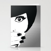 silent Stationery Cards featuring silent by Ezgi Kaya