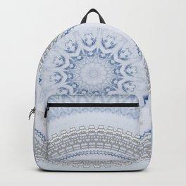 Elegant Blue Silver China Inspired Mandala Backpack