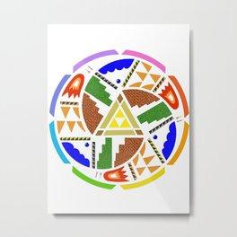 Zelda Mandala Metal Print