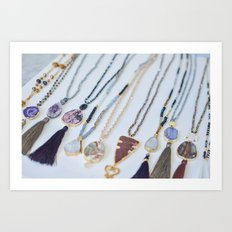 Quest Stones Boho Jewelry Art Print