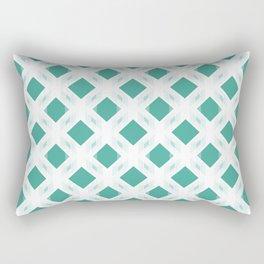 Retro-Delight - Diamond Division - Teal (Invert) Rectangular Pillow