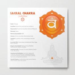Sacral - Svadhishthana Chakra Art & Info Metal Print