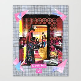 Bitch That Better Be for Me handcut collage Canvas Print