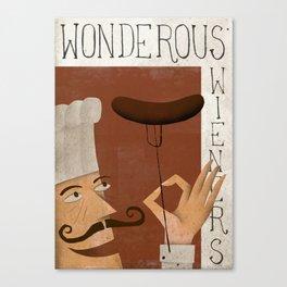 Wonderous Wieners Canvas Print